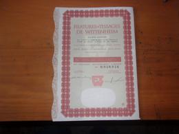 FILATURES ET TISSAGES DE WITTENHEIM (haut-rhin) 100 Francs - Ohne Zuordnung
