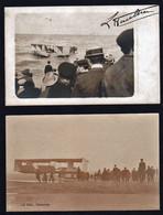 OSTENDE: Meeting D'Aviation D'Ostende Le 20/09/1909. RARE Lot De 2 Cartes Photos Sur Le Pilote Paulhan........ - Oostkamp