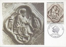 Carte Maximum Cathédrale D'Amiens 1969 Carte édition Bourgogne - 1960-69