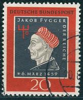 BRD - Mi 307 ⨀ (C) - 20Pf               Jakob Fugger - Oblitérés