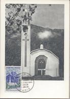 Carte 1er Jour Eglise De Cilaos Réunion 1960 Paris - 1960-69