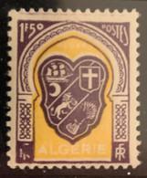 """ALGERIE 1947 - YT258** - Armoirie D'Alger - Variété """"Bavures - Grosses Tâches Violettes Sur RF Et Gerbe"""" - Neufs"""