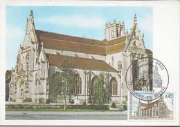 Carte Maximum Eglise De Brou Premier Jour 1969 Bourg En Bresse Carte édition CEF - 1960-69