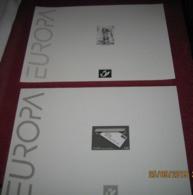 België:  2 Zwart-wit Velletjes EUROPA / 2 Feuilles Noir Et Blanc / 2 Black & White Sheets Europe - Hojas Blanco & Negro