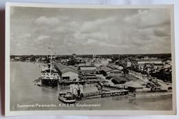 CPSM Rare Qualité Photo Suriname Paramaribo KNSM Emplacement Port Bateaux SURINAM - Surinam
