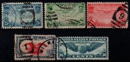 USA 1935-39, Scott C20-C24, Air Mail - 1a. 1918-1940 Gebraucht