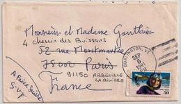 USA, 1991, Aviation Pioneers, Harriet Quimby, Airplane Blériot, Envelope For France, Burlington (VT), 5-9-91 - 3c. 1961-... Briefe U. Dokumente