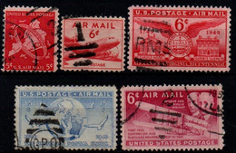 USA 1948-49, Scott C38-C40 C43 C45, Air Mail - 2a. 1941-1960 Gebraucht