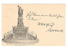 5pf Germania National Denkmal Statue Niederwahl Rudescheim Rhein 6.10.1883 - Entiers Postaux