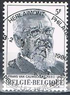 Année 1980 - COB 1965 - Frans Van Cauwelaert -  Ꙩ FDC - Oblitération Premier Jour - Oblitérés