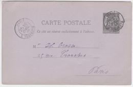 France, 1880, Carte Postale Sage 10c. Noir Sur Lilas, 89-CP1, R. Serpente, Paris, 29-4-1880 - Cartoline Postali E Su Commissione Privata TSC (ante 1995)