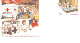 AUSTRALIA - Stationary ENVELOPE 39c RED CROSS 1989 Unc /QD79 - Enteros Postales