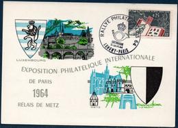 FRCM 1964 N° YT 1403 Sur Carte : Rallye Philatélique à L'occasion De L'Exposition PHILATEC - 1960-69