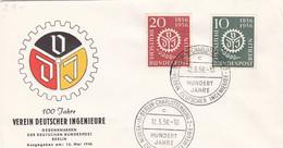 Berlin FDC 1956 - Nr. 138-39 - 100 Jahre Vereien Junger Ingenieure - FDC: Enveloppes
