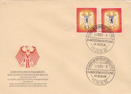 Berlin FDC 1955 - Nr. 129-30 - Deutscher Bundestag Berlin - FDC: Enveloppes