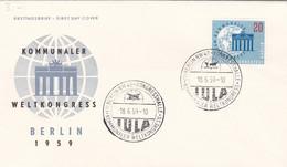 Berlin FDC 1959 Nr. 189 - Kommunaler Weltkngress Berlin - FDC: Enveloppes