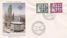 Berlin FDC 1961 Nr. 215-16 - Evangelischer Kirchentag - FDC: Enveloppes