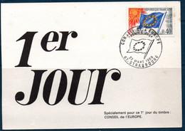 FRSe  1969 CONSEIL De L'EUROPE  FDC Du  N° YT 31 - Covers & Documents