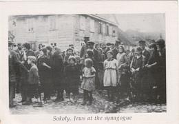 Sokoły, Judaica. Jews At The Synagogue - Polonia