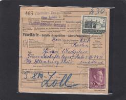 PAKETKARTE VON ZAKLIKO NACH ATTENBURG,DEUTSCHLAND. - Occupation 1938-45