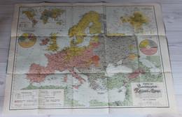 Grande Carte 1900 Des Religions En Europe Karte Der Verbreitungsgebiete Der Religionen In Europa A. L. Hickmann - French