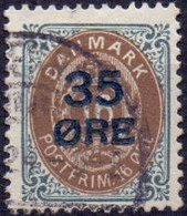 Denemarken 1904-15 Opdruk 35öre Op 16öre GB-USED - Usati