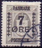DENEMARKEN 1912-26 Opdruk 7öre Op Dienstzegel 3öre GB-USED - Oblitérés