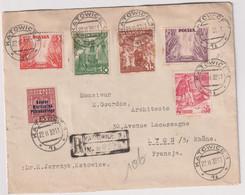 Pologne LR Pour La France Avec Bande De Contrôle Des Devises-22/11/1939 - Other