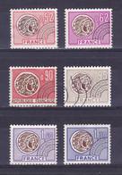 TIMBRE FRANCE PREOBLITERE N° 139/141 à 145 SANS GOMME - 1964-1988
