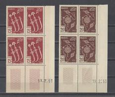 MAROC.  YT  N° 320/322 PA N° 93  Neuf **  1953 - Neufs