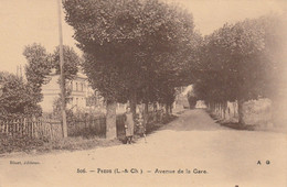 41 - PEZOU . AVENUE DE LA GARE .SCANS RECTO VERSO - Autres Communes