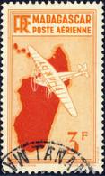 MADAGASCAR -1941 Yv.PA18, Maury PA19 3fr 1er Tirage - Rare Oblitéré - Luftpost
