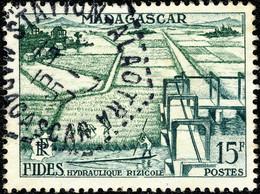 "MADAGASCAR 1957 "" STATION-ALAOTRA "" CàD Hex. Pointillé D'Agence Postale /Yv.330 - Oblitérés"