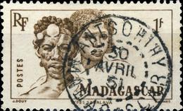 """MADAGASCAR - 1951 - CàD """" ANTSOHIHY """" Sur Yv.306 1fr Sépia Série Courante - Gebruikt"""