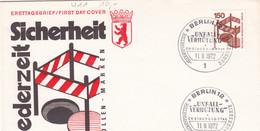 Berlin FDC 1972 -Nr.  411 A - Dauerserie Unfallverhütung - FDC: Enveloppes