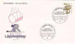 Berlin FDC 1972 -Nr.  410 A - Dauerserie Unfallverhütung - FDC: Enveloppes