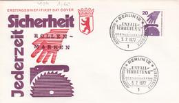 Berlin FDC 1972 -Nr.  404 A - Dauerserie Unfallverhütung - FDC: Enveloppes