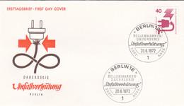 Berlin FDC 1971 -Nr.  407 A - Dauerserie Unfallverhütung - FDC: Enveloppes