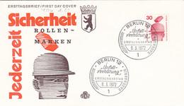Berlin FDC 1971 -Nr.  406 A - Dauerserie Unfallverhütung - FDC: Enveloppes