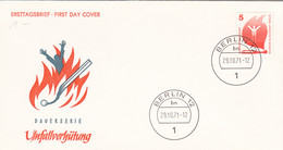 Berlin FDC 1971 -Nr.  402 A - Dauerserie Unfallverhütung - FDC: Enveloppes