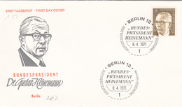 Berlin FDC 1971 -Nr.  360 - Dauerserie Heinemann - FDC: Enveloppes