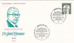 Berlin FDC 1970 -Nr.  362 - Dauerserie Heinemann - FDC: Enveloppes