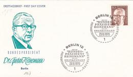 Berlin FDC 1970 -Nr.  361 - Dauerserie Heinemann - FDC: Enveloppes