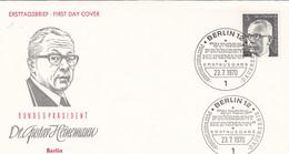 Berlin FDC 1970 -Nr.  359 - Dauerserie Heinemann - FDC: Enveloppes