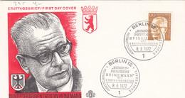 Berlin FDC 1972 -Nr.  395 - Dauerserie Heinemann - FDC: Enveloppes