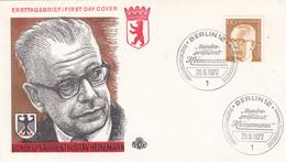 Berlin FDC 1972 -Nr.  429 - Dauerserie Heinemann - FDC: Enveloppes