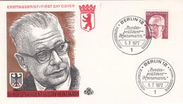 Berlin FDC 1972 -Nr.  431 - Dauerserie Heinemann - FDC: Enveloppes