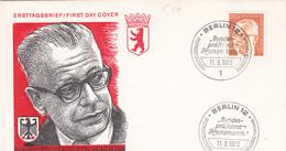 Berlin FDC 1972 -Nr.  432 - Dauerserie Heinemann - FDC: Enveloppes