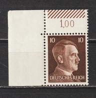 Adolf Hitler  MiNr. 787 ** Oberrand Bogenecke  (0244) - Neufs