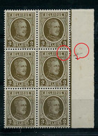 Bloc De 6  Du N° 191 Houyoux (**) Donc V5  Point  Blanc Sous E De Belgique - Plaatfouten (Catalogus OCB)